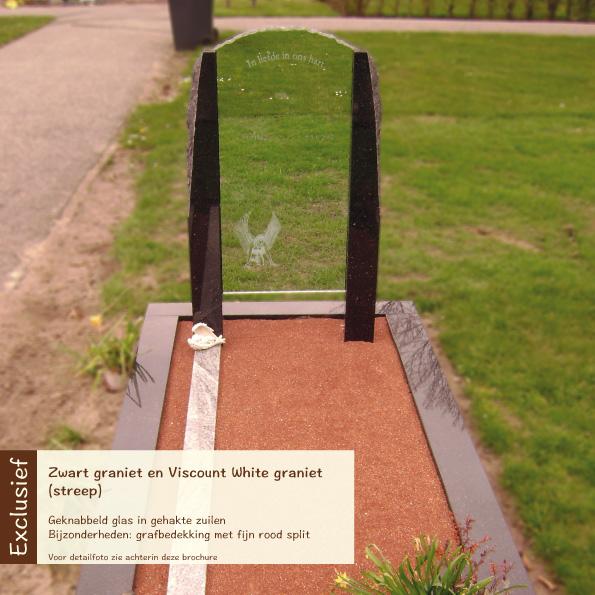Exclusief – Zwart graniet en Viscount White graniet